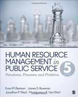 9781483340036-1483340031-Human Resource Management in Public Service: Paradoxes, Processes, and Problems