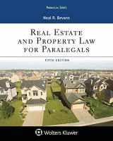 9781454896210-1454896213-Real Estate and Property Law for Paralegals (Aspen Paralegal)