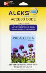 9780077843250-0077843258-ALEKS 360 Access Card (18 weeks) for Prealgebra