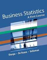 9780134462721-0134462726-Business Statistics: A First Course Plus NEW MyStatLab with Pearson eText -- Access Card Package (3rd Edition)