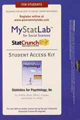 9780205847471-0205847471-NEW MyLab Statistics with Pearson eText -- Access Card -- for Statistics for Psychology (6th Edition) (Mystatlab)