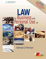 9781305653009-1305653009-Law for Business and Personal Use, Copyright Update, 19E