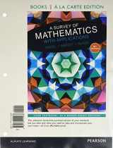 9780134112237-0134112237-A Survey of Mathematics with Applications a la Carte edition plus NEW MyMathLab with Pearson eText (10th Edition)