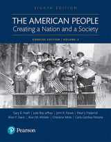 9780134169996-0134169999-American People: Volume 2: Creating a Nation and a Society
