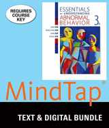 9781305929067-1305929063-Bundle: Essentials of Understanding Abnormal Behavior, Loose-Leaf Version, 3rd + MindTap Psychology, 1 term (6 months) Printed Access Card