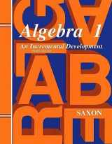 9781565771239-1565771230-Saxon Algebra 1: Homeschool Kit Third Edition