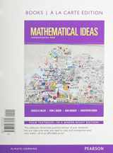 9780133865462-0133865460-Mathematical Ideas, Bools a la Carte Edition plus NEW MyMathLab with Pearson eText -- Access Card Package (13th Edition)