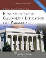 9781454816546-1454816546-Fundamentals of California Litigation for Paralegals, Fifth Edition (Aspen College)