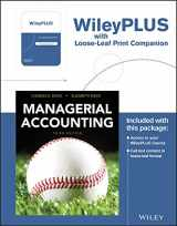 9781119343615-1119343615-Managerial Accounting, 3e Loose-Leaf Print Companion with WileyPLUS  Card Set