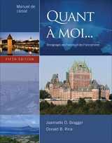 9781111354176-1111354170-Quant À Moi...: Témoignages Des Français Et Des Francophones, 5th Edition