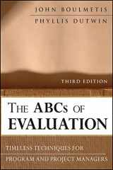 9780470873540-047087354X-The ABCs of Evaluation: Timeless Techniques for Program and Project Managers