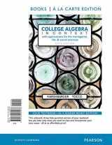 9780134180038-0134180038-College Algebra in Context, Books a la Carte Edition (5th Edition)