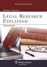 Legal Research Explained, Third Edition (Aspen College)