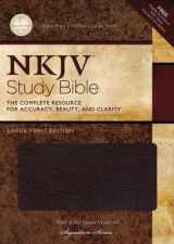 9781418542634-1418542636-NKJV Study Bible, Large Print, Bonded Leather, Burgundy, Thumb Indexed: Large Print Edition
