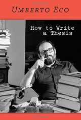 9780262527132-0262527138-How to Write a Thesis (The MIT Press)