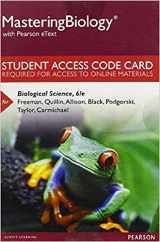 MasteringBiology with Pearson eText -- Standalone Access Card -- for Biological Science (6th Edition)