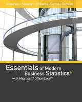 9781337298353-1337298352-Essentials of Modern Business Statistics with Microsoft Office Excel (Book Only)
