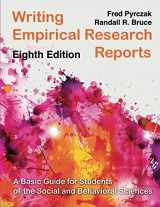 9781936523368-1936523361-Writing Empirical Research Reports: A Basic Guide for Students and of the Social and Behavioral Sciences