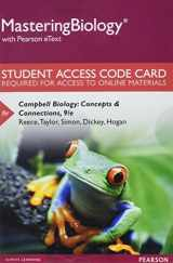 9780134606125-0134606124-MasteringBiology with Pearson eText -- Standalone Access Card -- for Campbell Biology: Concepts & Connections (9th Edition)