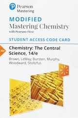 9780134553122-0134553128-Modified Mastering Chemistry with Pearson eText -- Standalone Access Card -- for Chemistry: The Central Science (14th Edition)