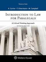9781543807783-154380778X-Introduction to Law for Paralegals: A Critical Thinking Approach (Aspen Paralegal)