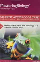 9780134256238-0134256239-Mastering Biology with Pearson eText -- Standalone Access Card -- for Biology: Life on Earth with Physiology (11th Edition)