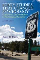 Forty Studies that Changed Psychology (7th Edition)