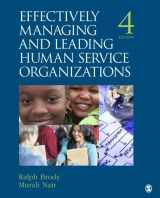 9781412976459-1412976456-Effectively Managing and Leading Human Service Organizations (SAGE Sourcebooks for the Human Services)