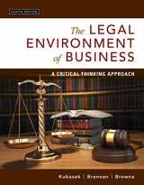 9780134074030-0134074033-The Legal Environment of Business: A Critical Thinking Approach
