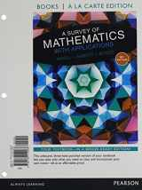 9780134212364-0134212363-A Survey of Mathematics with Applications with Integrated Review, Books a la carte edition, plus MyMathLab Student Access Card and Sticker (10th Edition)