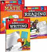 9781493825905-1493825909-180 Days of Practice for First Grade (Set of 3), 1st Grade Workbooks for Kids Ages 5-7, Includes 180 Days of Reading, 180 Days of Writing, 180 Days of Math