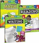 9781493825899-1493825895-180 Days of Practice for Kindergarten (Set of 3), Assorted Kindergarten Workbooks for Kids Ages 4-6, Includes 180 Days of Reading, 180 Days of Writing, 180 Days of Math