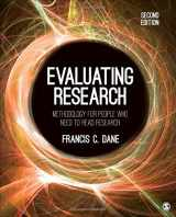 9781483373348-1483373347-Evaluating Research: Methodology for People Who Need to Read Research