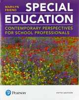 9780134995700-0134995708-Special Education: Contemporary Perspectives for School Professionals plus MyLab Education with Pearson eText -- Access Card Package (5th Edition) (What's New in Special Education)