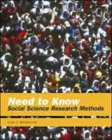 9780767413176-0767413172-Need to Know: Social Science Research Methods
