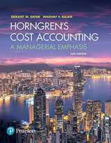 Horngren's Cost Accounting Plus MyAccountingLab with Pearson eText -- Access Card Package (16th Edition)