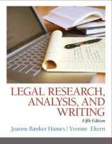 9780133495034-0133495035-Legal Research, Analysis, and Writing (5th Edition)