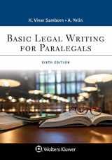 9781543813807-1543813801-Basic Legal Writing for Paralegals (Aspen Paralegal)