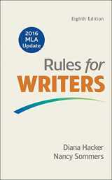 9781319083496-1319083498-Rules for Writers with 2016 MLA Update