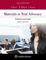 9781543805185-1543805183-Materials in Trial Advocacy (Aspen Coursebook)