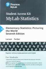 9780134783628-013478362X-MyLab Statistics with Pearson eText -- 24 Month Standalone Access Card -- for Elementary Statistics: Picturing the World (7th Edition)