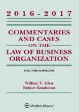9781454840541-1454840544-Commentaries and Cases on the Law of Business Organizations: 2016-2017 Statutory Supplement (Supplements)