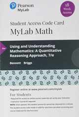 9780135903537-013590353X-MyLab Math with Pearson eText -- 18 Week Standalone Access Card -- for Using & Understanding Mathematics: A Quantitative Reasoning Approach
