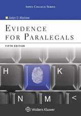 9780735590137-0735590133-Evidence for Paralegals 5e (Aspen College)