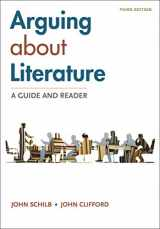 9781319215927-1319215920-Arguing About Literature: A Guide and Reader
