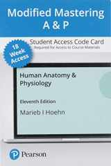 9780136781059-0136781055-Modified Mastering A&P with Pearson eText -- Access Card -- for Human Anatomy & Physiology (18-Weeks)