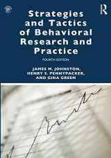 9781138641594-1138641596-Strategies and Tactics of Behavioral Research and Practice