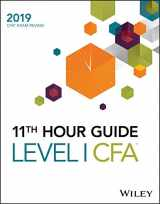 9781119531081-111953108X-Wiley 11th Hour Guide for 2019 Level I CFA Exam