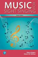 9780134475455-0134475453-Music for Sight Singing, Student Edition (10th Edition) (What's New in Music)