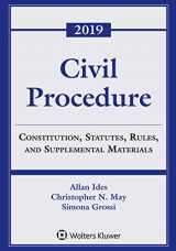 9781543809398-1543809391-Civil Procedure: Constitution, Statutes, Rules, and Supplemental Materials, 2019 (Supplements)